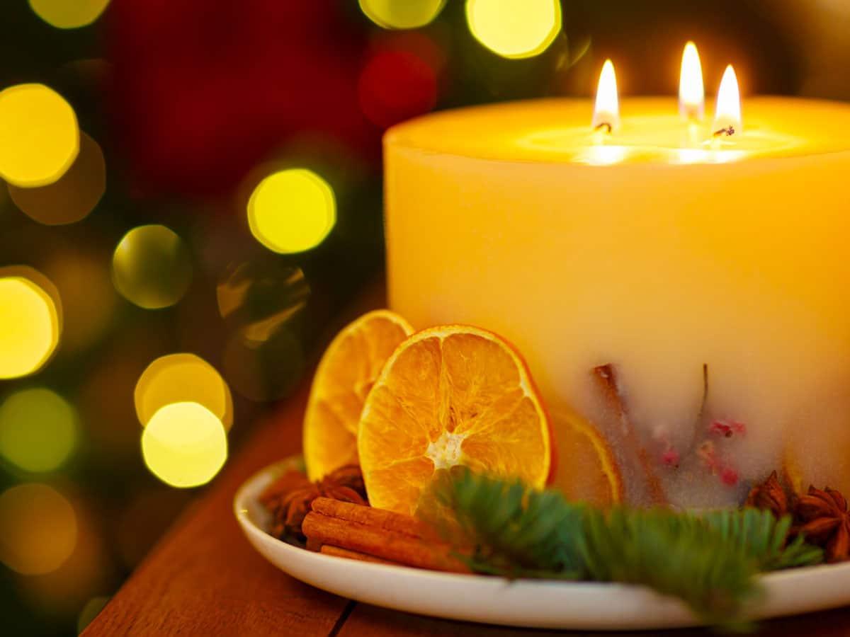 candela di natale centrotavola
