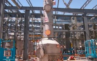 impianto scrubber in costruzione